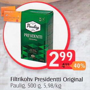 Allahindlus - Filtrikohv Presidentti Original