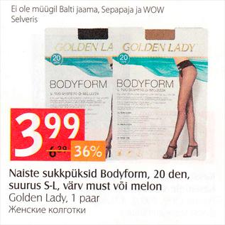 Allahindlus - Naiste sukkpüksid Bobyform, 20 den, suurus S-L, värv must või melon