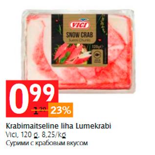 Allahindlus - Krabimaitseline liha Lumekrabi