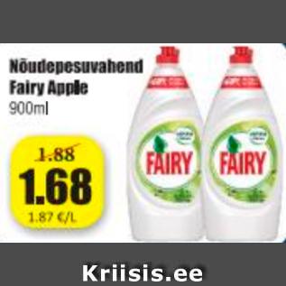 Allahindlus - Nõudepesuvahend Fairy Apple 900 ml