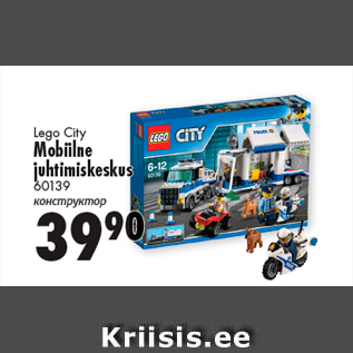 c08b4ac7a7e Lego City Mobiilne juhtimiskeskus 60139 - Allahindlus - Prisma ...