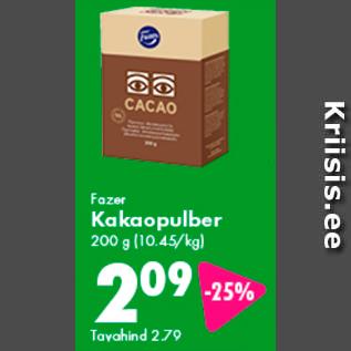 Allahindlus - Fazer Kakaopulber 200 g