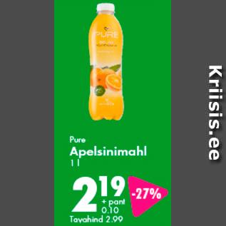 Allahindlus - Pure Apelsinimahl 1 l