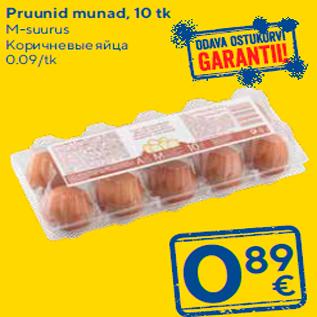 Allahindlus - Pruunid munad, 10 tk