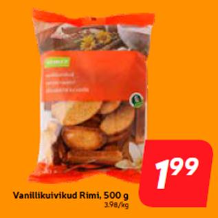 Allahindlus - Vanillikuivikud Rimi, 500 g