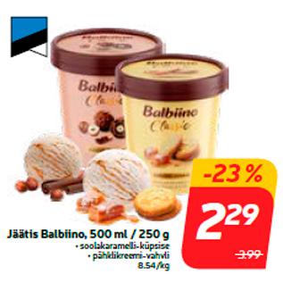 Allahindlus - Jäätis Balbiino, 500 ml / 250 g