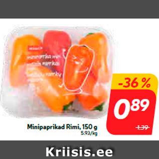 Allahindlus - Minipaprikad Rimi, 150 g