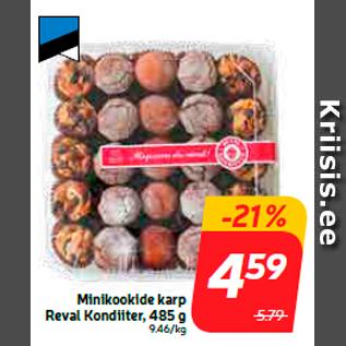 Allahindlus - Minikookide karp Reval Kondiiter, 485 g