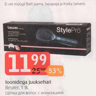 Скидка - Щетка для волос с ионизацией