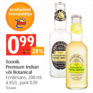 Allahindlus - Toonik Premium Indian või Botanical