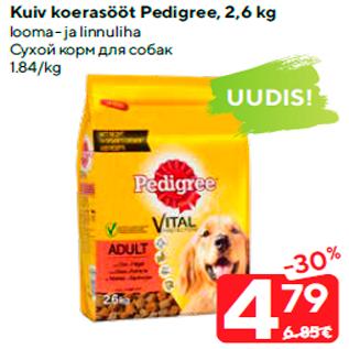 Allahindlus - Kuiv koerasööt Pedigree, 2,6 kg