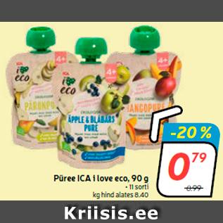 Allahindlus - Püree ICA i love eco, 90 g