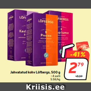 Allahindlus - Jahvatatud kohv Löfbergs, 500 g