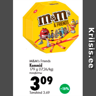 Allahindlus - M&M`s Frionds Kommid 179 g