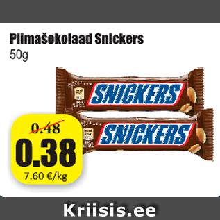 2067644651b Piimašokolaad Snickers 50 g - Allahindlus - Grossi - Kriisis.ee ...