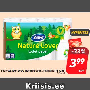 Allahindlus - Tualettpaber Zewa Nature Lover, 3-kihiline, 16 rulli*