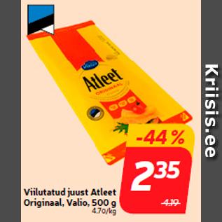 Allahindlus - Viilutatud juust Atleet Originaal, Valio, 500 g