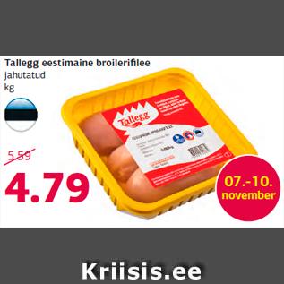 Allahindlus - Tallegg eestimaine broilerifilee