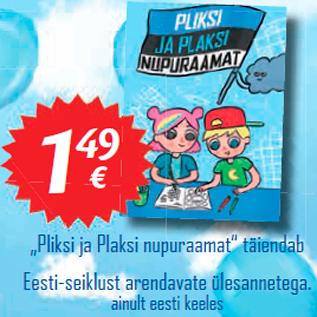 """Allahindlus - Pliksi ja Plaksi nupuraamat"""" täiendab Eesti-seiklust arendavate ülesannetega."""
