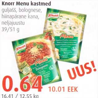Allahindlus - Knorr Menu kastmed