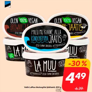 Allahindlus - Valik LaMuu ökoloogilisi jäätiseid, 400 g