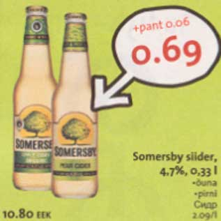 Allahindlus - Somersby siider