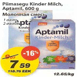Allahindlus - Piimasegu Kinder Milch,Aptamil