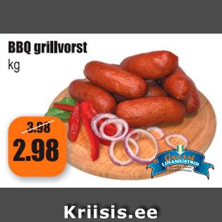 Allahindlus - BBQ grillvorst kg