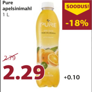 Allahindlus - Pure apelsinimahl