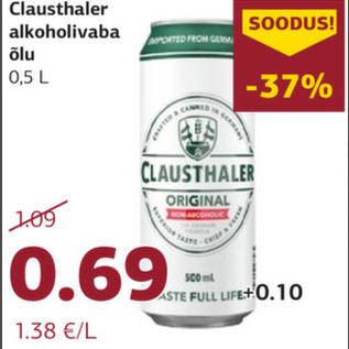 Allahindlus - Clausthaler alkoholivaba Õlu