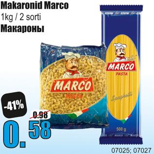Allahindlus - Makaronid Marco