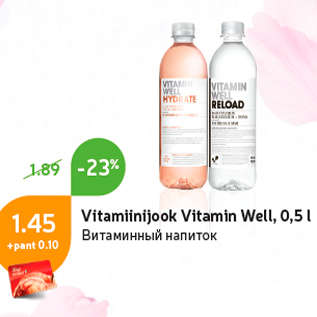 Allahindlus - Vitamiinijook Vitamin Well, 0,5 l