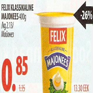 Allahindlus - Felix klassikaline majonees