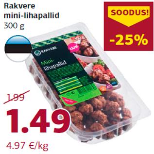 Allahindlus - Rakvere mini-lihapallid 300 g