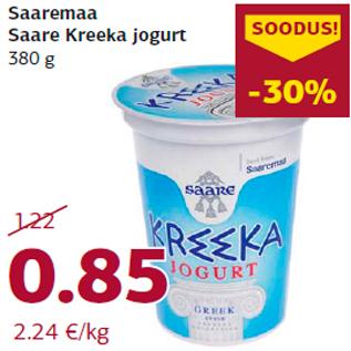 Allahindlus - Saaremaa Saare Kreeka jogurt 380 g