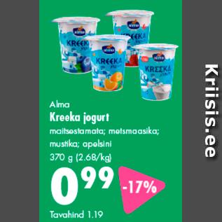 Allahindlus - Alma Kreeka jogurt
