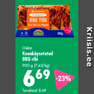 Allahindlus - Oskar Kauaküpsetatud BBQ ribi 900 g