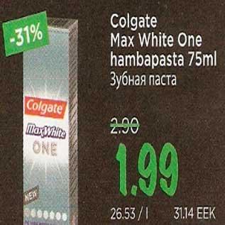 Allahindlus - Colgate Max White One hambapasta