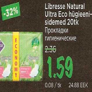 Allahindlus - Libresse Natural Ultra Eco hügieenisidemed