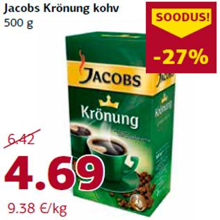 Allahindlus - Jacobs Krönung kohv  500 g