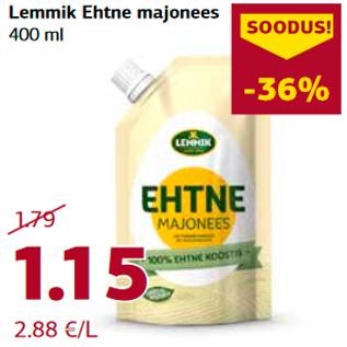 Allahindlus - Lemmik Ehtne majonees  400 ml