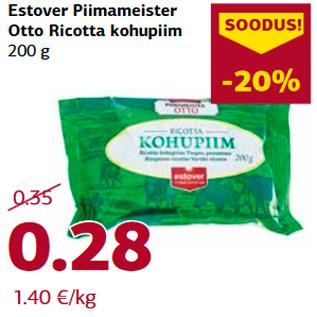 Allahindlus - Estover Piimameister  Otto Ricotta kohupiim  200 g