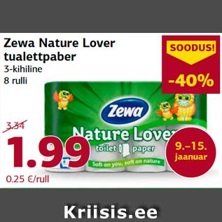 Allahindlus - Zewa Nature Lover  tualettpaber