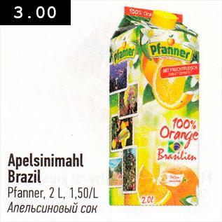 Allahindlus - Apelsinimahl Brazil