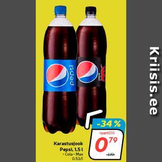 Allahindlus - Karastusjook Pepsi, 1,5 l