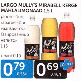 Allahindlus - LAGRO MULLT´S MIRABELL KERGE MAHLALIMONAAD 1,5 L