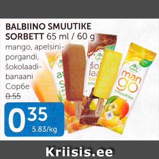 Allahindlus - BALBIINO SMUUTIKE SORBETT 65 ml / 60 g