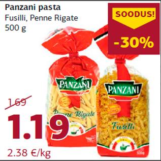 Allahindlus - Panzani pasta