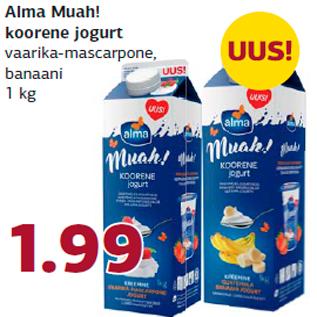 Allahindlus - Alma Muah! koorene jogurt