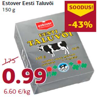 Allahindlus - Estover Eesti Taluvõi 150 g